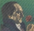 goethe mit Rose in der Hand