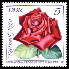 Rose Karneol auf DDR-Briefmarke Foto Wikipedia